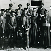 Priests and Métis at Beauval, SK.