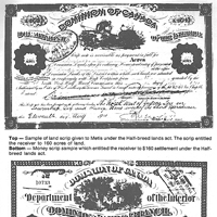 Samples of land scrip documents