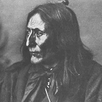 Portrait of Chief Crowfoot of the Blackfoot (1880s?)