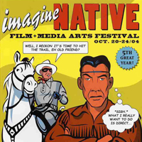 imagineNATIVE film + media arts festival poster
