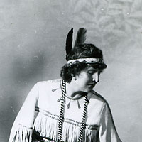 Euro-Canadian woman in Aboriginal costume