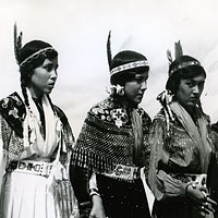 Costumed Aboriginal Women at Pion-Era