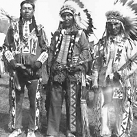 Three men of the Sweetgrass Reserve, Governor General Lord Tweedsmuir's visit