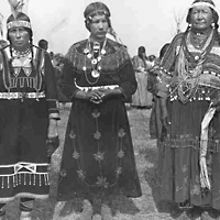 Three Indigenous Women in Elaborate Garments