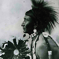 Cree man in Traditional Dress