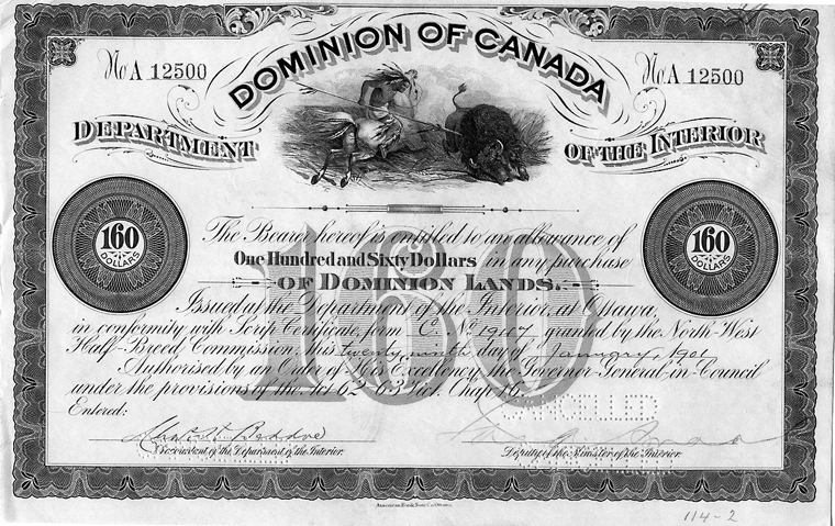 métis scrip our legacy